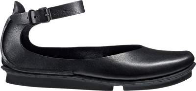 trippen shoe ballerina black leather
