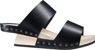 Trippen Wooden shoe Candy in black