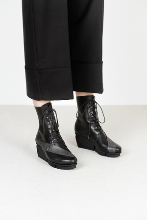 Trippen passage f waw blk lht blk leather boots