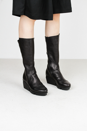 Trippen tour f waw blk leather boots