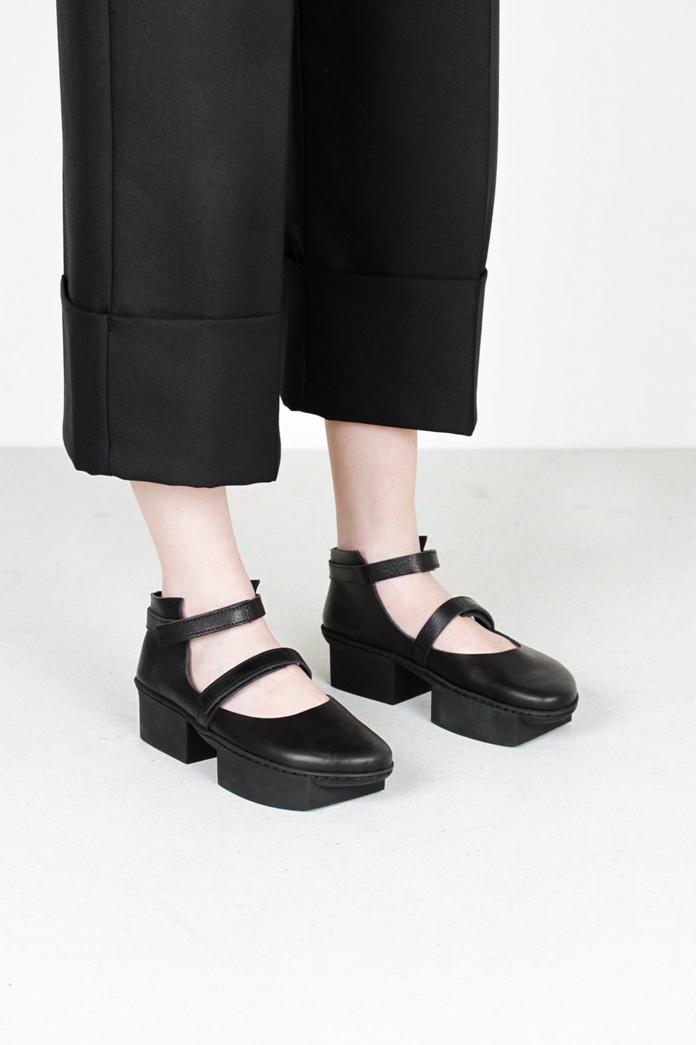 Trippen sisters f waw blk leather shoes
