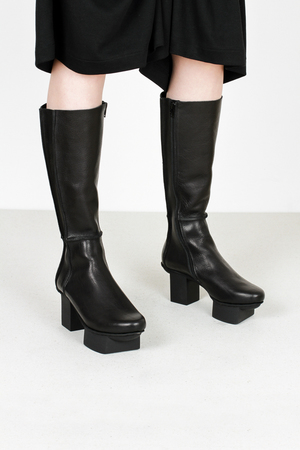 Trippen construct f waw blk leather boots
