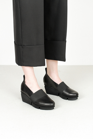 Trippen bargee f waw blk leather shoes