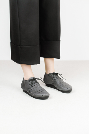 Trippen chill f lht blk 2 leather shoes