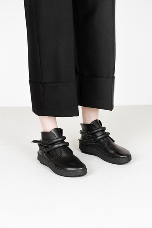 Trippen  dew f waw blk leather shoes