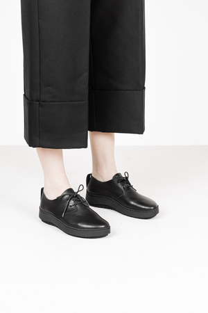 Trippen shio f waw blk leather shoes