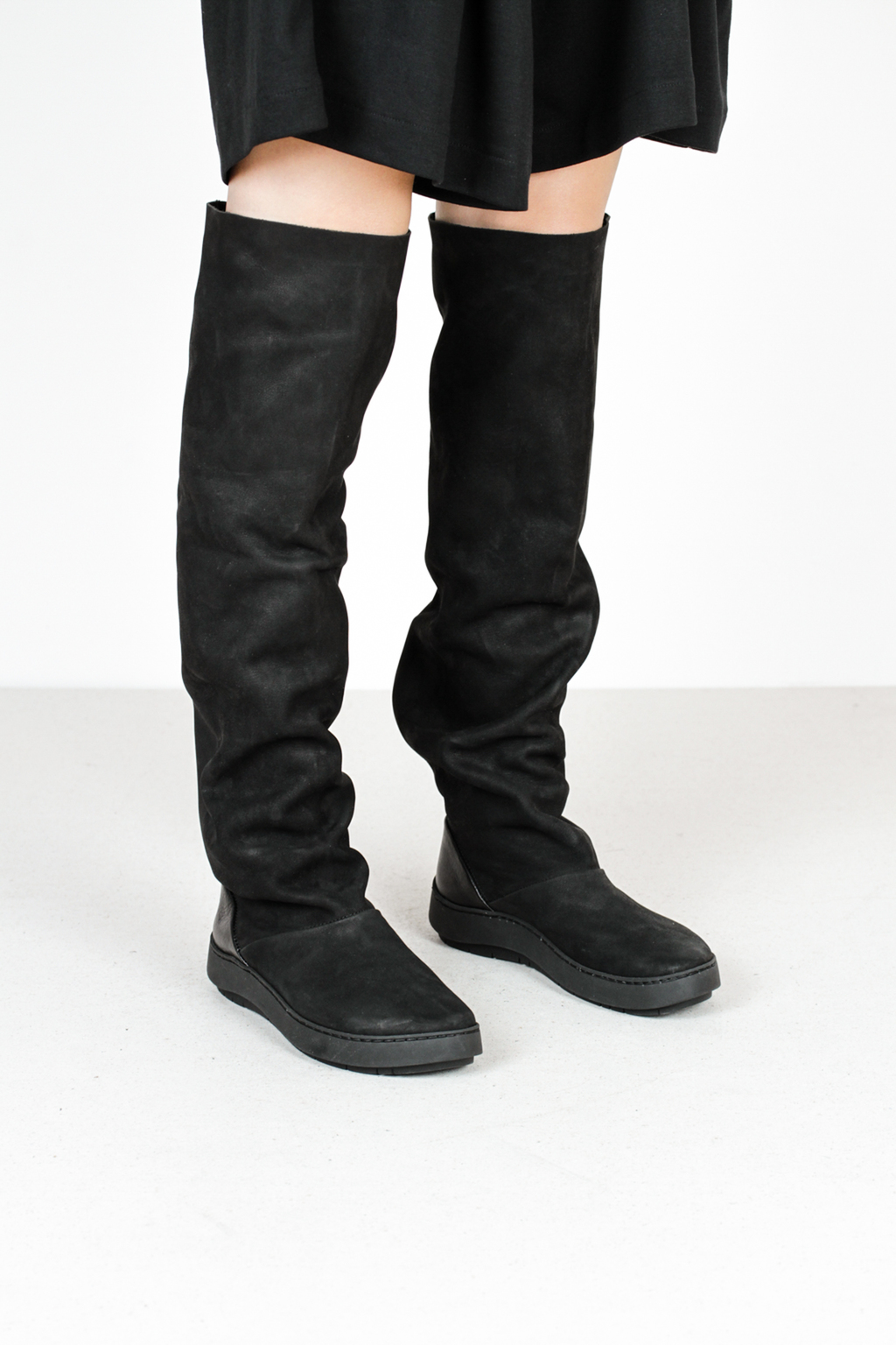 Trippen records f mse blk leather boots