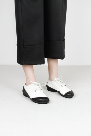 Trippen moby f blk waw wht waw wa blk leather shoes