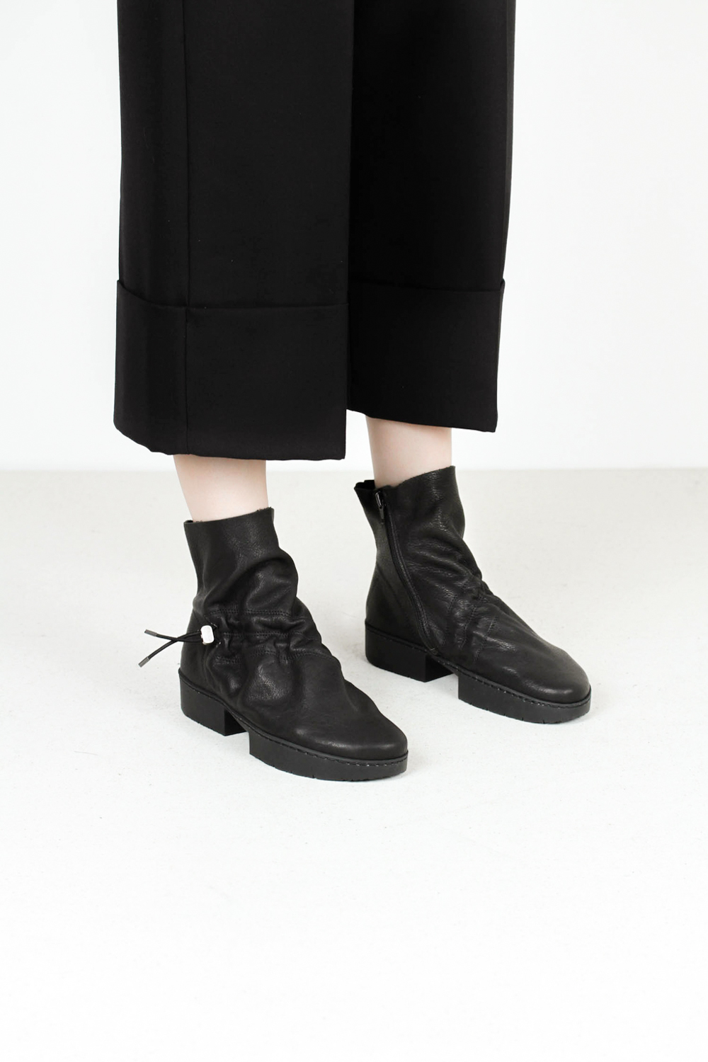 Trippen subway f vst blk leather boots
