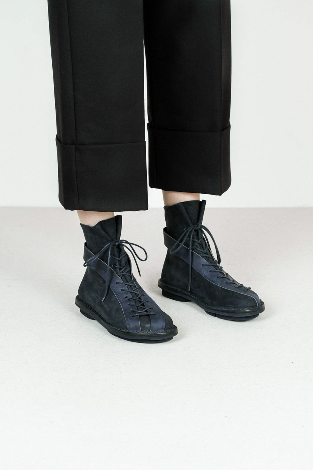 Trippen highway f tiz pull navy leather boots 3