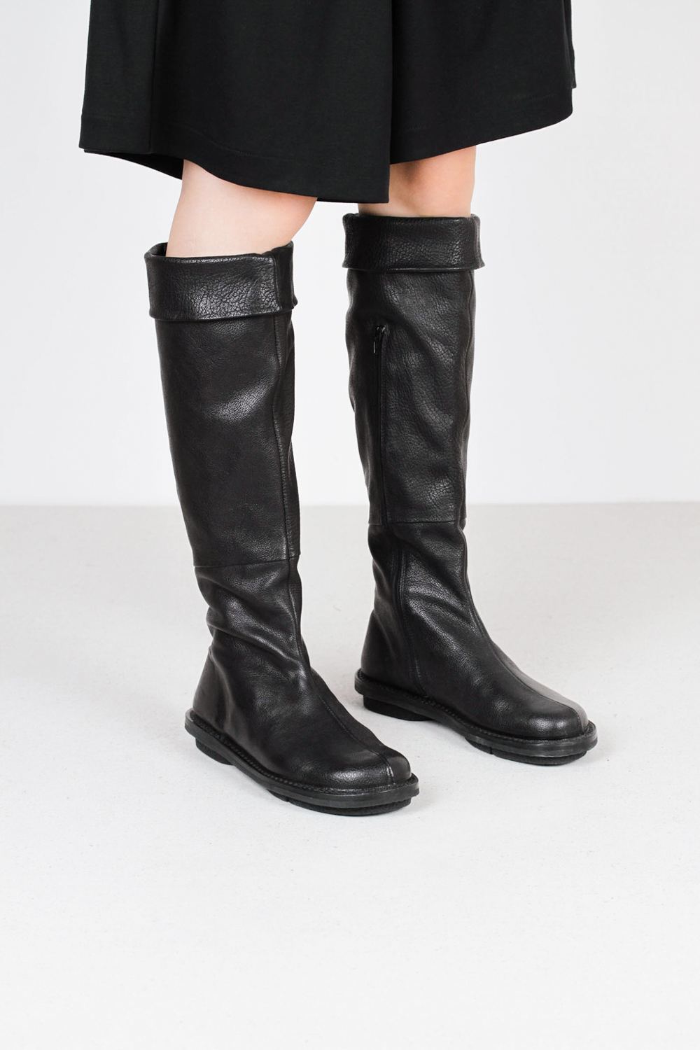 Trippen long f wab blk leather boots