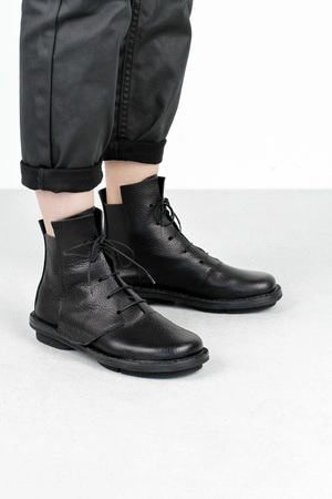 Trippen lumber f black waw leather shoes