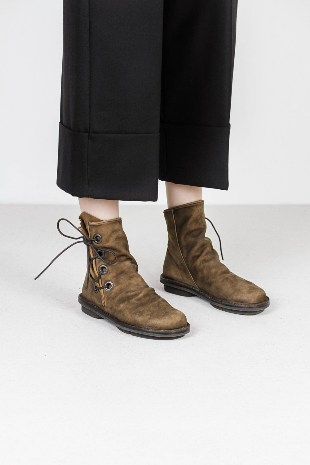 Trippen tramp f mse cuoio leather boots