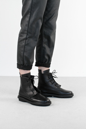 Trippen rectangle f petrol pul leather boots4