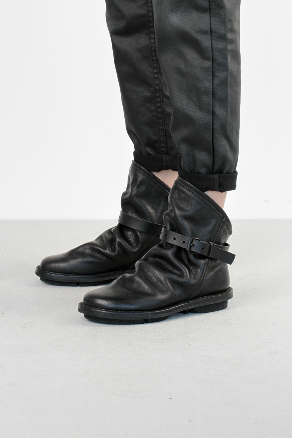 Trippen bomb f black buf leather boots6