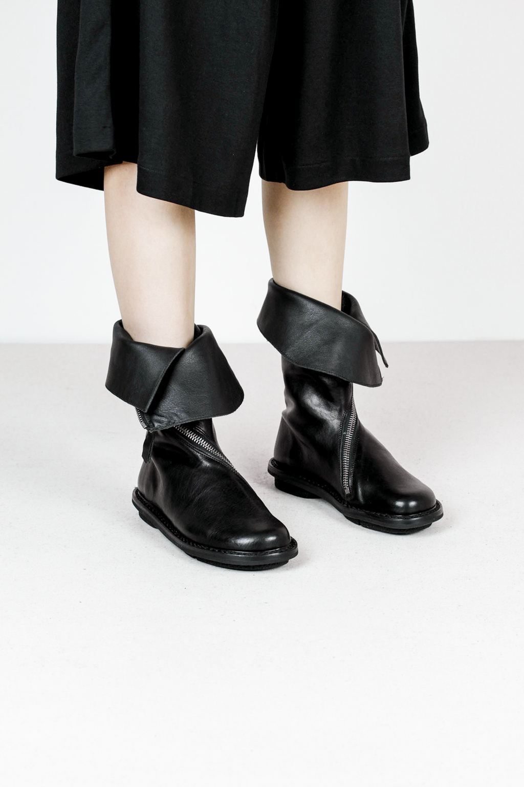 Trippen onion f waw blk leather boots