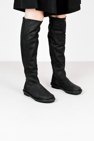 Trippen tall f tiz blk ka blk leather shoes