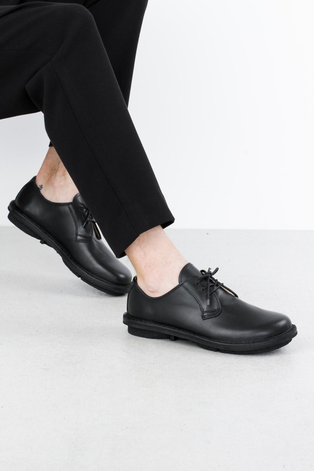 Trippen derby black box vi blk leathershoe1