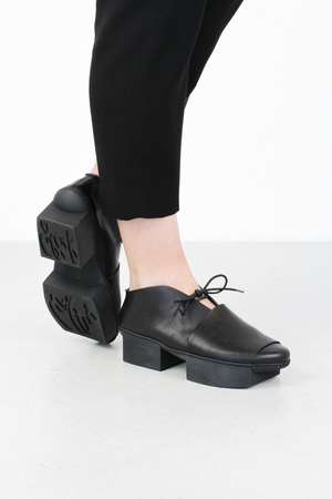 Trippen deck black waw pc blk leathershoe
