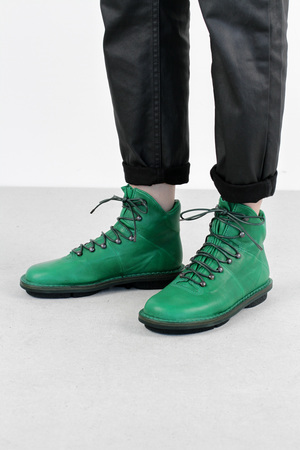 Trippen alpin green sat leather boots3